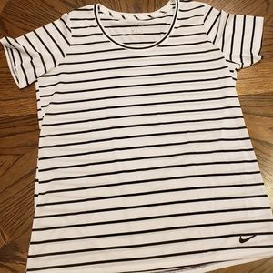 Nike Dry-Fit Black & White Stripes T-Shirt